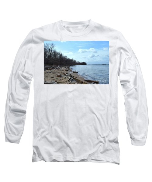 Delaware River Shoreline Long Sleeve T-Shirt