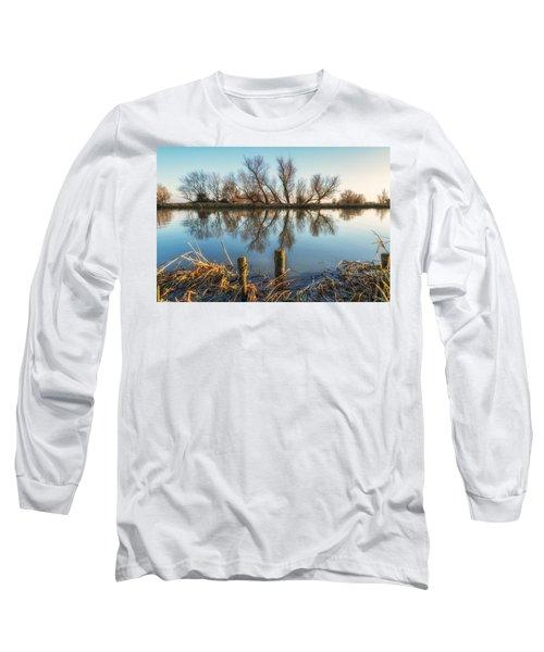Riverside Trees Long Sleeve T-Shirt