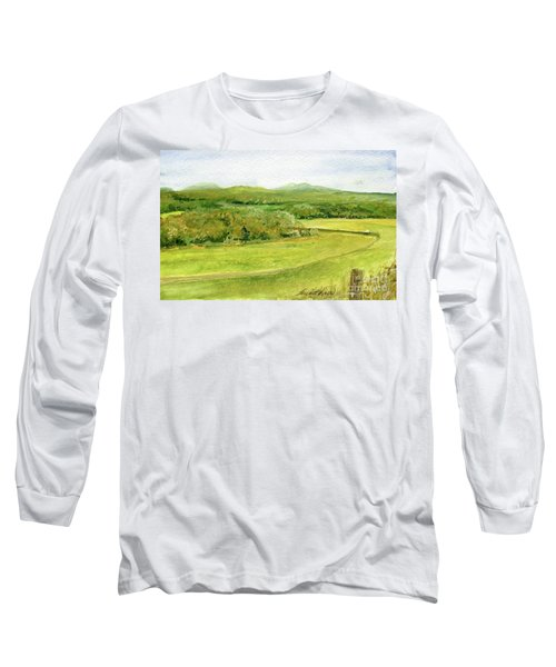 Road Through Vermont Field Long Sleeve T-Shirt