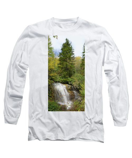 Long Sleeve T-Shirt featuring the photograph Roadside Waterfall In North Carolina by Mike McGlothlen