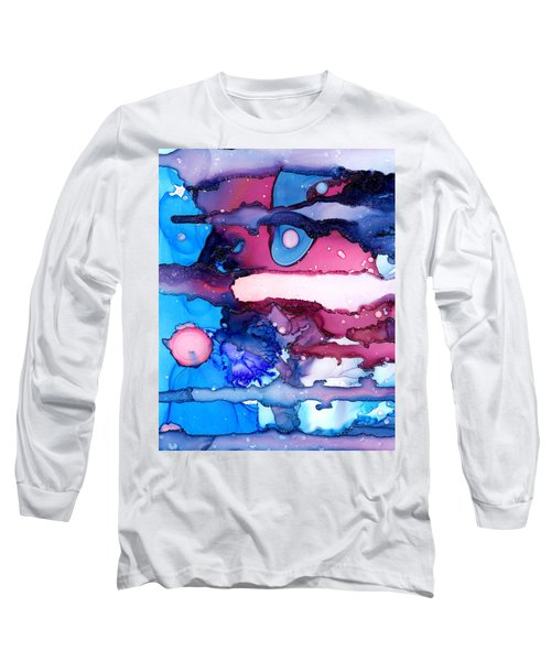 Roaming Free In The Valley Of The Elephants Long Sleeve T-Shirt by Sir Josef - Social Critic -  Maha Art