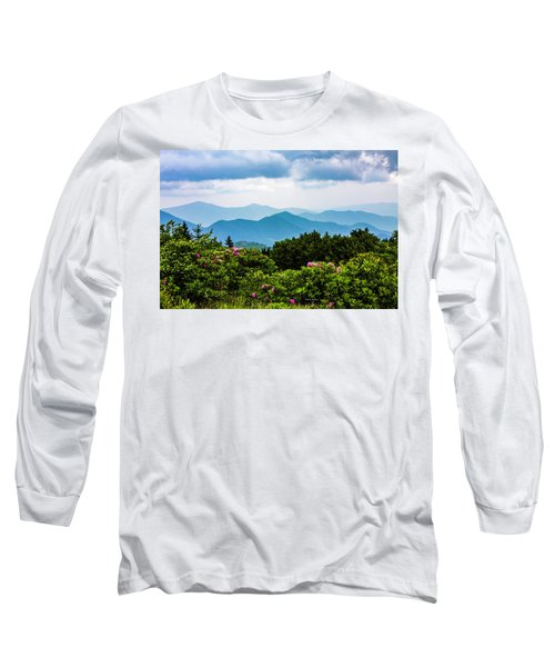 Roan Mountain Rhodos Long Sleeve T-Shirt by Dale R Carlson