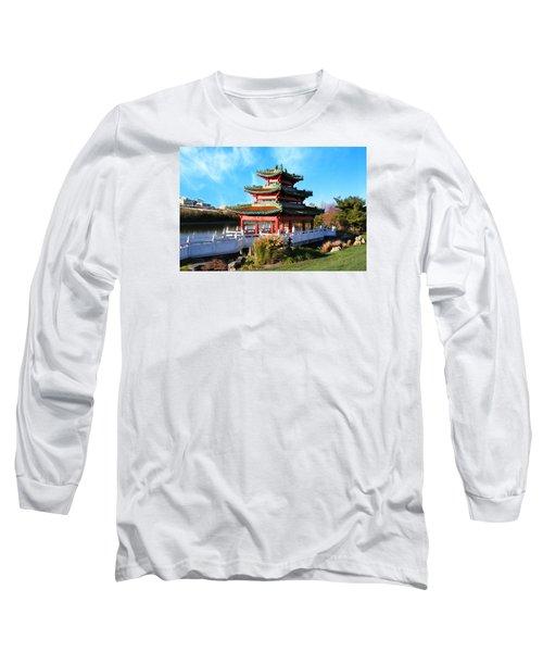 Robert D. Ray Asian Garden Long Sleeve T-Shirt by Kathy M Krause