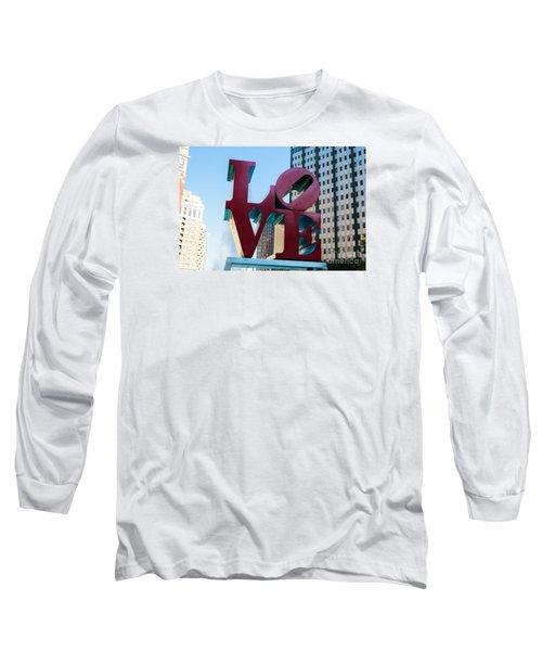 Robert Indiana Love Sculpture Long Sleeve T-Shirt