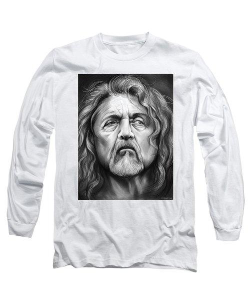 Robert Plant Long Sleeve T-Shirt by Greg Joens