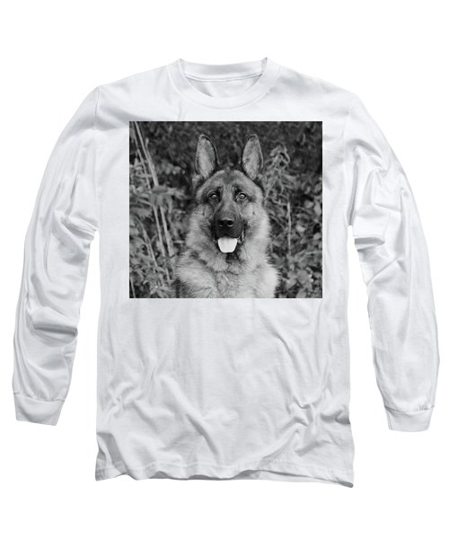 Long Sleeve T-Shirt featuring the photograph Rocco - Bw by Sandy Keeton