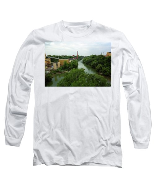 Rochester, Ny - Genesee River 2005 Long Sleeve T-Shirt by Frank Romeo