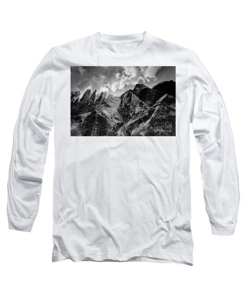 Rock #9542 Bw Version Long Sleeve T-Shirt