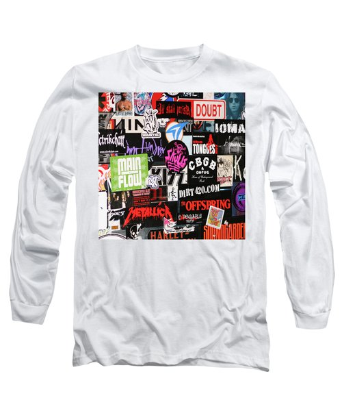 Rock And Roll Stickers Long Sleeve T-Shirt