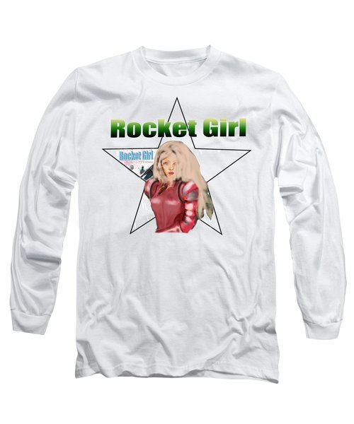 Rocket Girl Long Sleeve T-Shirt by Tom Conway