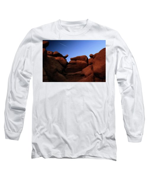Rocks And Sky At Goblin Valley  Utah Long Sleeve T-Shirt by Gary Warnimont