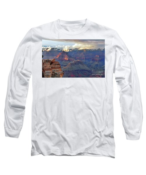 Rocks Fall Into Place Long Sleeve T-Shirt by Debby Pueschel