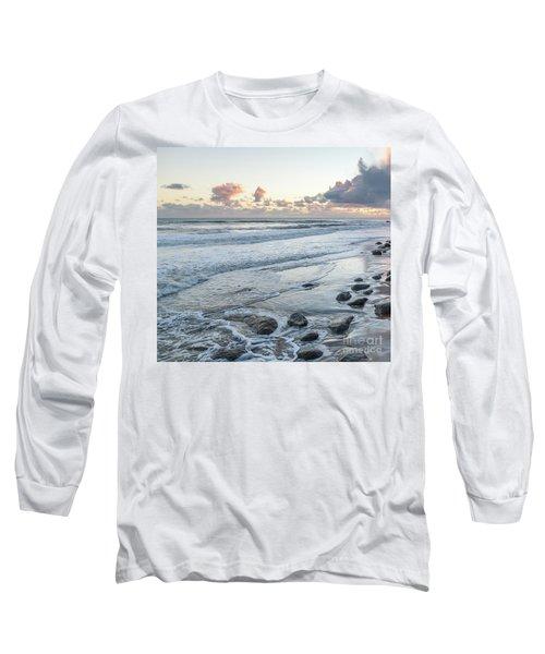 Rocks On The Beach During Sunset Long Sleeve T-Shirt
