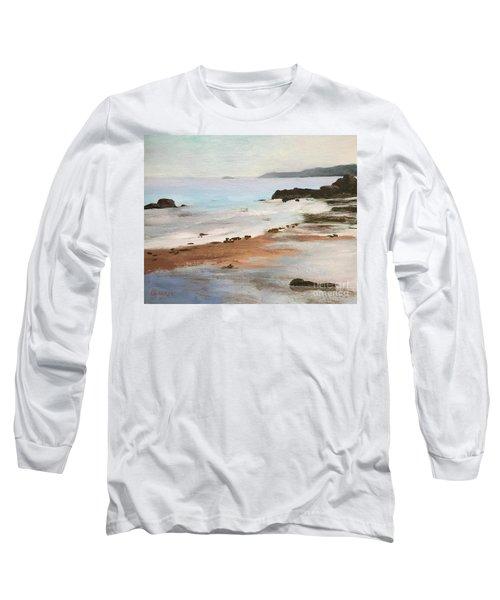Rocky Neck Beach At Sunset Long Sleeve T-Shirt