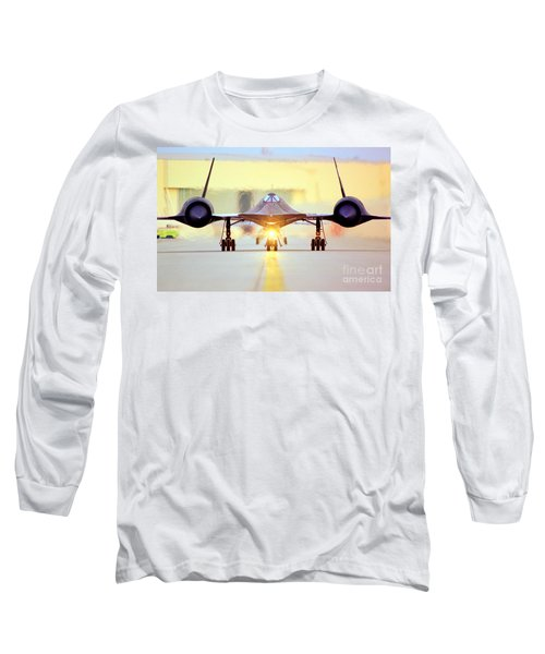 Long Sleeve T-Shirt featuring the photograph Roger That - Sr71 Jet by Greg Moores