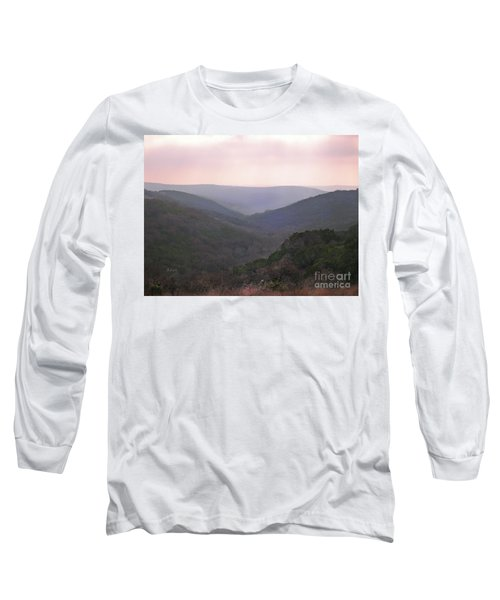 Rolling Hill Country Long Sleeve T-Shirt by Felipe Adan Lerma