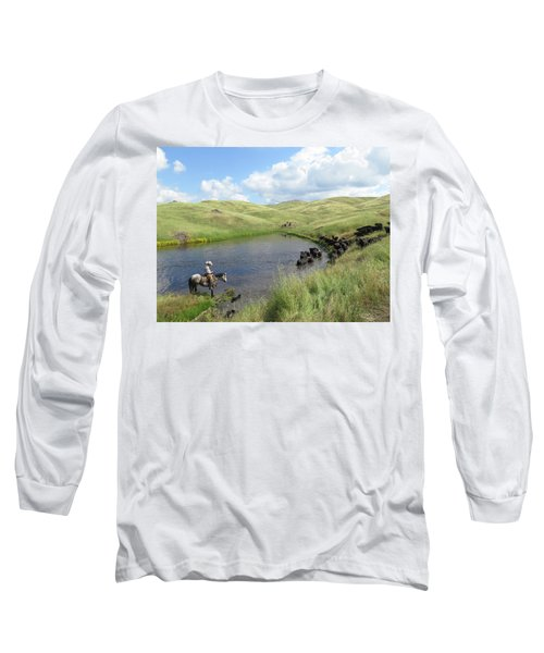 Rolling Hills Long Sleeve T-Shirt by Diane Bohna
