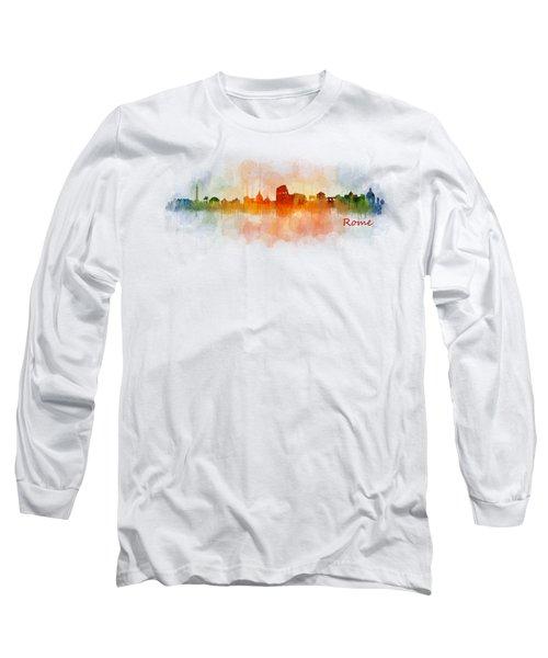 Rome City Skyline Hq V03 Long Sleeve T-Shirt