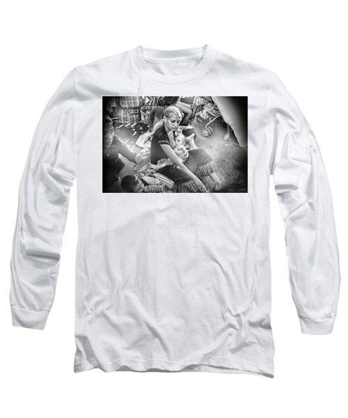 Roms De France 1,black And White  Long Sleeve T-Shirt