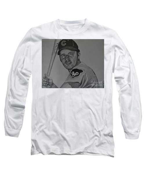 Ron Santo Portrait Long Sleeve T-Shirt by Melissa Goodrich