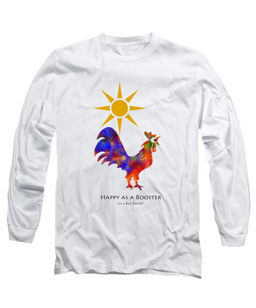 Rooster Pattern Art Long Sleeve T-Shirt