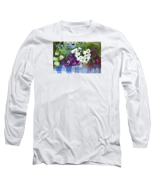 Long Sleeve T-Shirt featuring the painting Root Vegetables by Jeanette French