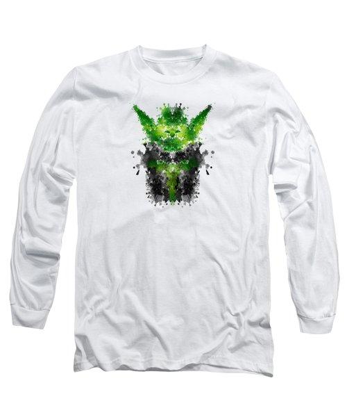 Rorschach Yoda Long Sleeve T-Shirt