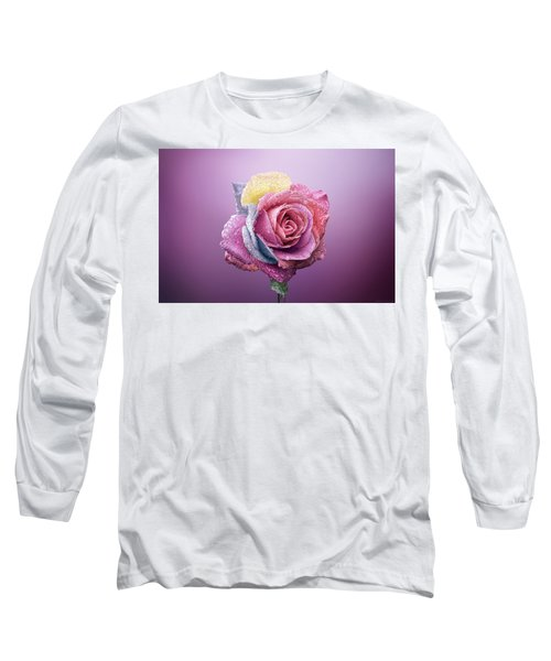 Rose Colorfull Long Sleeve T-Shirt by Bess Hamiti