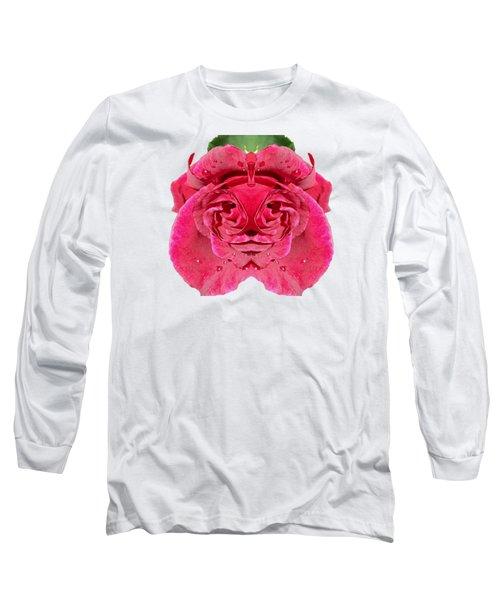 Rose Face Long Sleeve T-Shirt