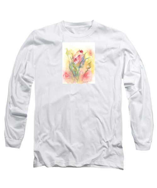 Rose Garden One Long Sleeve T-Shirt by Elizabeth Lock
