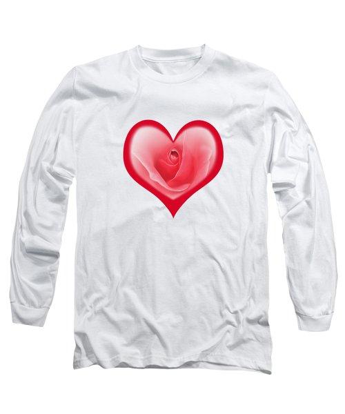 Rose Heart T-shirt And Print By Kaye Menner Long Sleeve T-Shirt