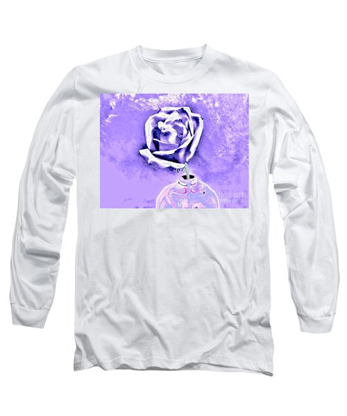 Rose In Creative Vase Long Sleeve T-Shirt