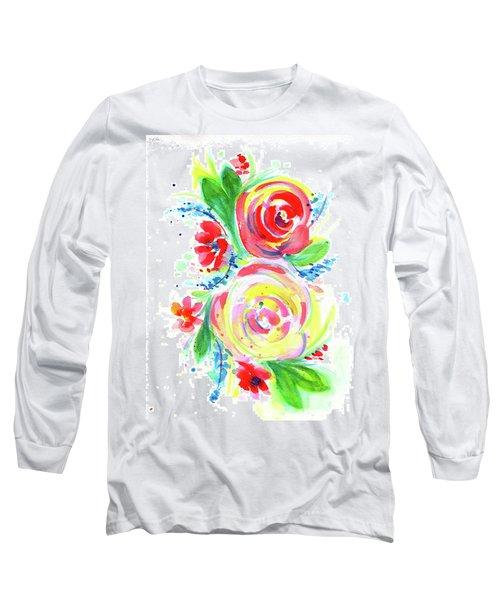 Rose Red Rose Yellow  Long Sleeve T-Shirt