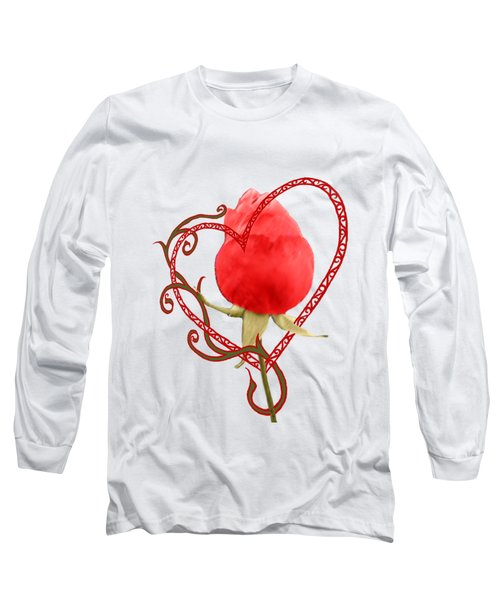 Rose Through My Heart Long Sleeve T-Shirt