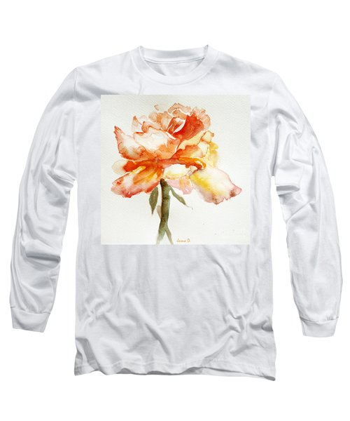 Rose Yellow Long Sleeve T-Shirt by Jasna Dragun