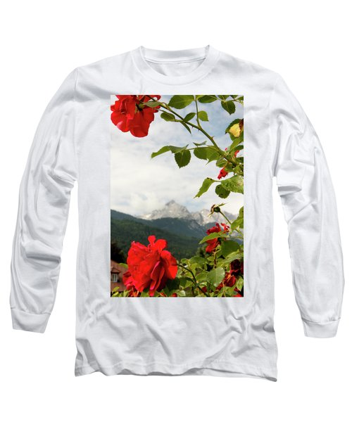 Long Sleeve T-Shirt featuring the photograph Roses Of The Zugspitze by KG Thienemann
