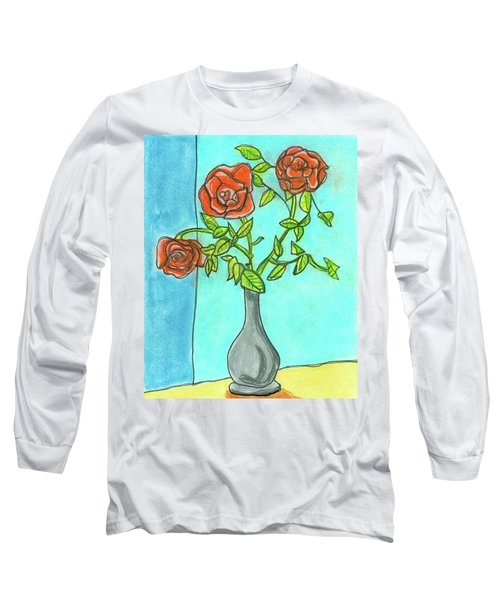 Roses R Red Long Sleeve T-Shirt