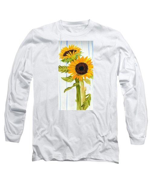Rosezella's Sunflowers II Long Sleeve T-Shirt by Anne Marie Brown