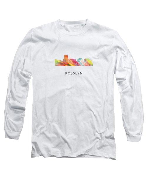 Rosslyn Virginia Skyline Long Sleeve T-Shirt by Marlene Watson