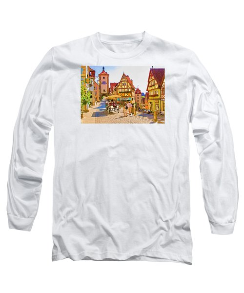 Long Sleeve T-Shirt featuring the photograph Rothenburg Little Square by Dennis Cox WorldViews