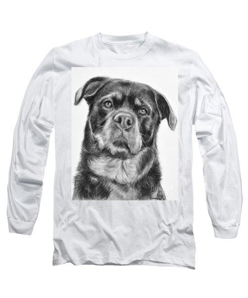 Rottweiler Drawing Titled Mama Long Sleeve T-Shirt