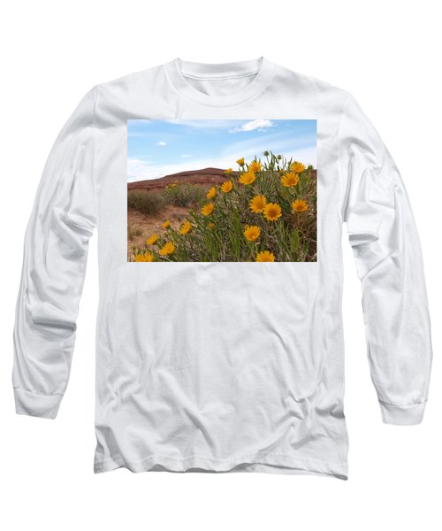 Long Sleeve T-Shirt featuring the photograph Rough Mulesear Flowers by Jenessa Rahn