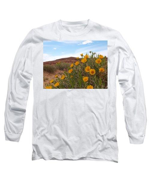 Rough Mulesear Flowers Long Sleeve T-Shirt