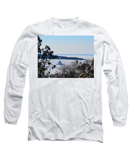 Round Island Passage Light Through The Trees Long Sleeve T-Shirt