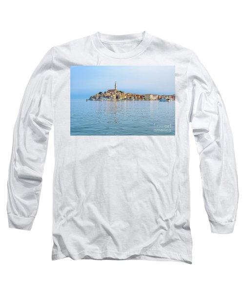 Rovinj In The Early Morning Fog, Istria, Croatia Long Sleeve T-Shirt