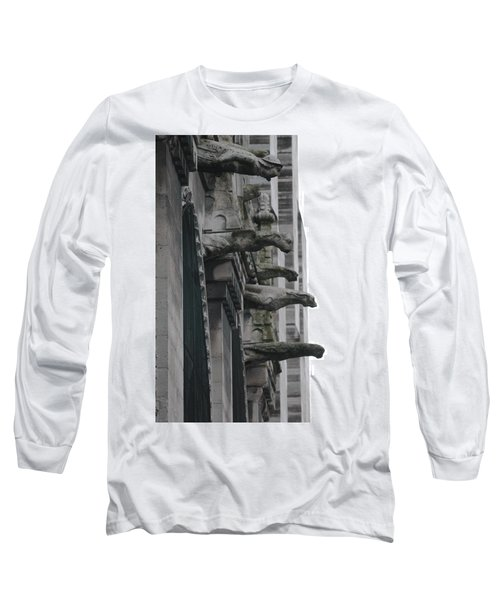 Long Sleeve T-Shirt featuring the photograph Row Of Gargoyles by Christopher Kirby