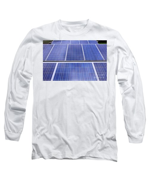 Long Sleeve T-Shirt featuring the photograph Rows Of Solar Panels by Yali Shi