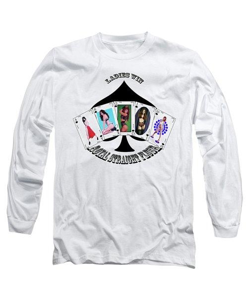 Royal Straight Flush Spades 2 Long Sleeve T-Shirt