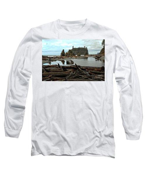 Ruby Beach Driftwood Long Sleeve T-Shirt