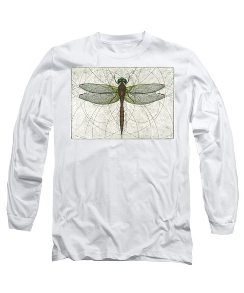 Ruby Meadowhawk Dragonfly Long Sleeve T-Shirt by Charles Harden
